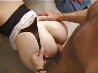 large anal mommy pierced by hubbys buddies