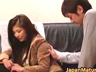 chisa kirishima asian mature babe gives