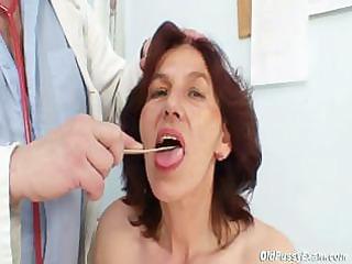 hairy pussy grandma visits pervy girl medic