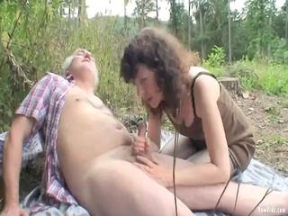 outdoor aged pair sex