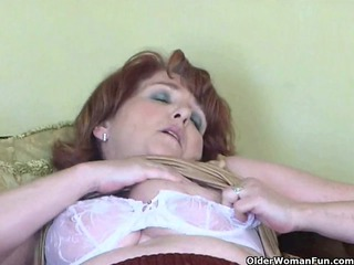 nasty granny has solo porn with sextoy