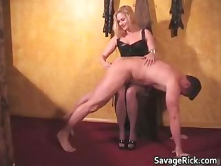 awesome brown leather blond milf girl acquires