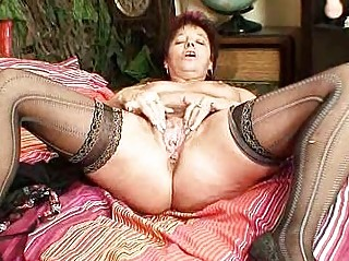 elderly young milf spraying her vagina muscles