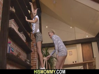 awesome mom seduces her sons gf