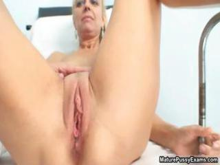 busty mature patient playing her light red part6