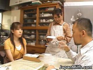 desperate japanese woman licking and drilling
