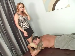 lady knows a really good massage