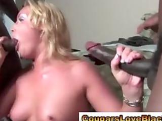 observe mixed older bitch take huge ebony penis
