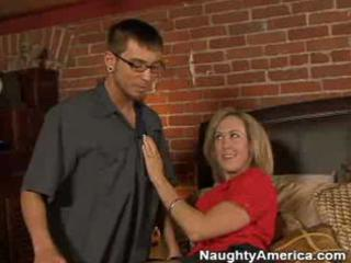 woman seduces delivery boy