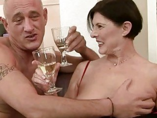 filthy old obtains her hairy pussy pierced
