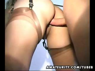 naughty young older  housewife obtains gangbanged