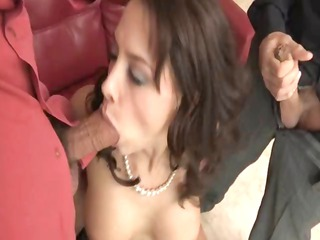 sexy grownup chanel preston obtains two cocks,