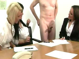 cfnm office milfs extremely impressive for cock