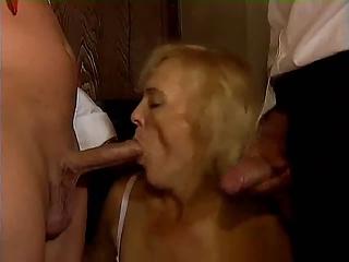 german granny grownup twofold penetration