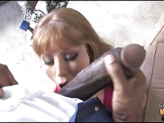 filthy mother copulates 12 inch brown dick into