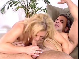 blonde cop inside pink bikini licks and copulates