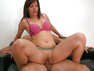 beautiful woman whore obtains pleased by her boss