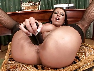 horny lady plays  with vibrators