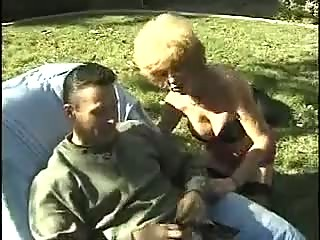 slutty cougar elderly drilling outside