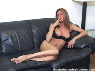smoking milf flashes boobs as she longs for your