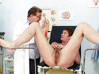lady furry kitty gyno examination inside hospital