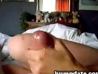 young woman gives pleasing handjob