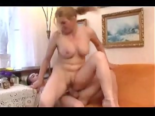 aged awesome mommy with amateur mate