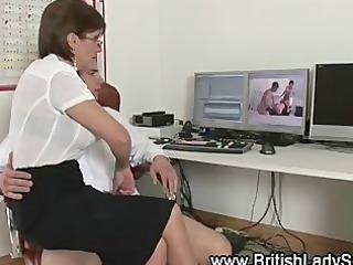 ancient belle gets sucking for cock