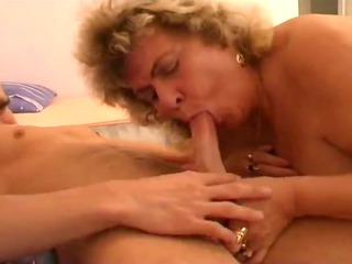 huge sweet girl granny with naughty lad part 1