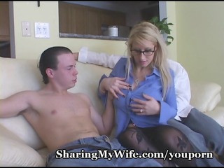 horny girlfriend busy with 2 penises