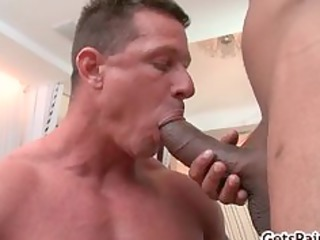 cougar muscle boy licking brown cock part5