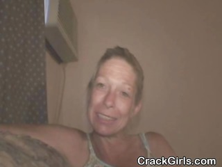 aged crack whore from the streets licking dick