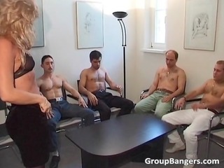 amateur gang drill party with some mature