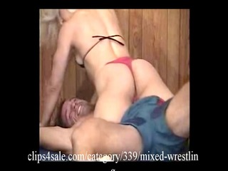 awesome interracial wrestling deed at