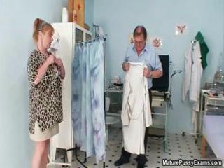 fake nurse inspecting these older  woman part1