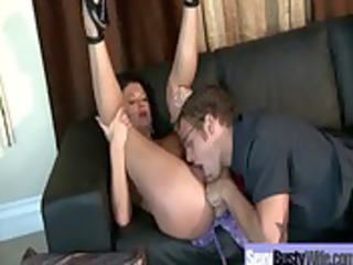 big chest housewife obtain drilled unmerciful