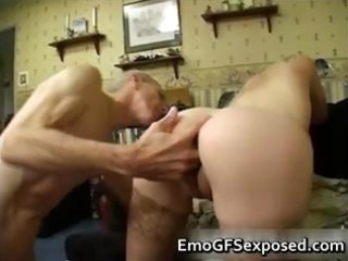 elderly papy fucking young  tattooed woman part4