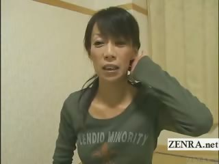 subtitled grownup woman japanese bodybuilder