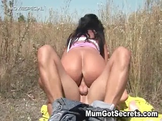 busty milf acquires gangbanged hard openair free