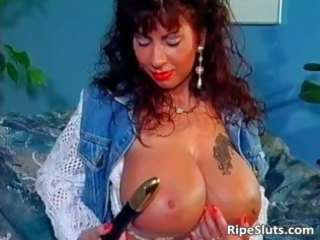 sweet super breasted grownup bitch uses part1
