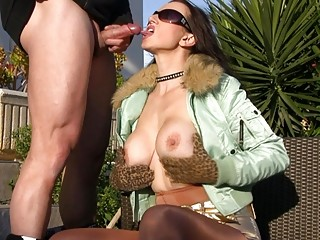 openair cock sucking with extremely impressive