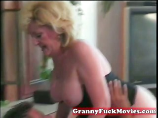 dishing out blonde elderly kitty