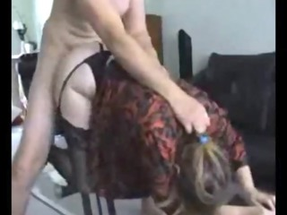 curvy milf into pantyhose gang-banged on