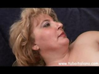 plump older  american bleached elderly takes some