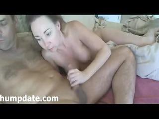 mature babe licks hubbys dick and gives handjob