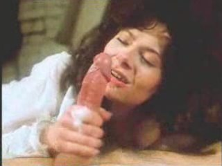 vintage retro grownup babe fellatio with giant cum