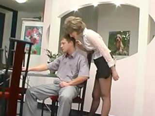 stockings granny obtains mouth older  grownup sex