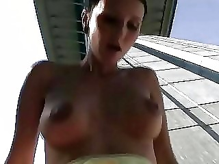awesome lady outdoor gangbanging and jizzed on