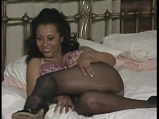 slutty woman upskirt into stockings