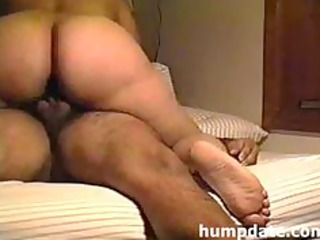 latin maiden with large arse driving hubbys dick
